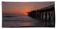 Beach Towel featuring the photograph Virginia Sunrise by Pete Federico