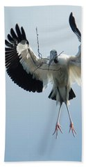 Woodstork Nesting Beach Towel