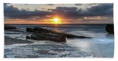 A Moody Sunrise Seascape Beach Towel