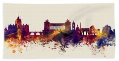 Rome Italy Skyline Beach Towel