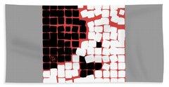 Beach Towel featuring the digital art 11 X 11 Nude by Attila Meszlenyi