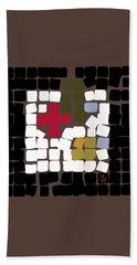 Beach Towel featuring the digital art 11 X 11 Still Life by Attila Meszlenyi