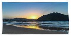 Hazy Sunrise Seascape Beach Towel