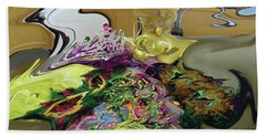 121618 Mardi Gra Morning Beach Towel
