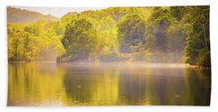 Beach Towel featuring the photograph Julian Price Lake, Along The Blue Ridge Parkway In North Carolin by Alex Grichenko