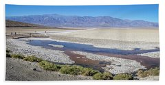 Beach Towel featuring the photograph Badwater Basin Death Valley National Park California by Alex Grichenko