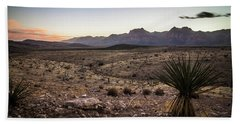 Beach Towel featuring the photograph Red Rock Canyon Las Vegas Nevada At Sunset by Alex Grichenko
