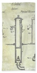 1858 Fire Hydrant Patent Beach Towel