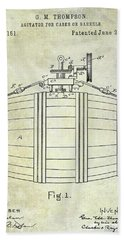 1888 Whiskey Or Beer Barral Patent Beach Towel