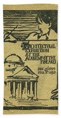 1894-95 Catalogue Of The Architectural Exhibition At The Pennsylvania Academy Of The Fine Arts Beach Towel
