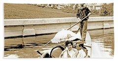 1904 Worlds Fair, Sighteeing Boat, Oarsman And Couple Beach Sheet