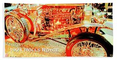 1921 Rolls Royce Classic Automobile Beach Towel
