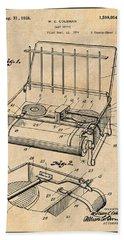 1924 Coleman Camp Stove Antique Paper Patent Print Beach Towel