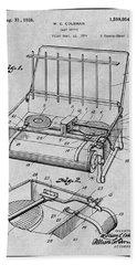 1924 Coleman Camp Stove Gray Patent Print Beach Towel