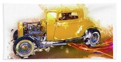 1932 Ford Hotrod Beach Towel