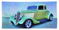 1934 Green Ford Beach Towel