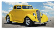 1935 Willys Coupe Beach Towel