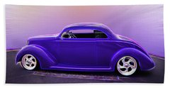 1937 Ford Coupe Beach Towel