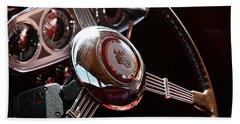 1937 Vintage Model 1508 Steering Wheel Beach Towel