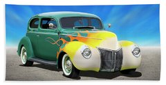 1940 Ford Coupe Beach Towel