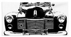 1941 Cadillac Front Blk Beach Sheet