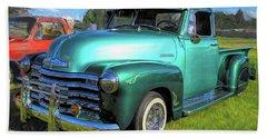 1950 Chevy Pickup Lowrider Bomb Beach Towel
