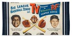 1950's B.f. Goodrich Baseball Advertising Display Beach Towel