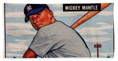 1951 Bowman Mickey Mantle Beach Towel