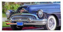1953 Buick Skylark - Chrome And Grill Beach Towel