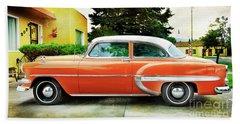 1954 Belair Chevrolet 2 Beach Towel