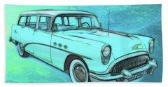 1954 Buick Wagon Beach Towel