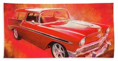 1956 Chevy Nomad Beach Towel