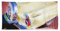 1956 Ford Thunderbird Painted 011 Beach Towel