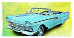 1957 Ford Fairlane Convertable Beach Towel