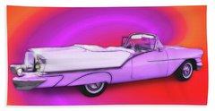 1957 Oldsmobile 98 Starfire Beach Towel