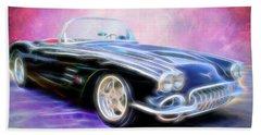 1958 Chevrolet Corvette Beach Towel