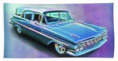 1959 Chevy Wagon Beach Towel