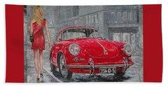 1965 Porsche 356 C Beach Towel