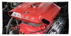 1967 Buick Grand Sport Engine Beach Towel