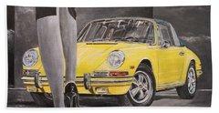 1968 Porsche 911 Targa Beach Towel