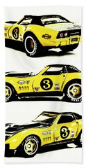 1969 Chevrolet Copo Corvette Beach Towel