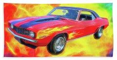 1969 Flaming Z Beach Towel