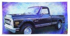 1970 Chevy C10 Pickup Truck Beach Towel