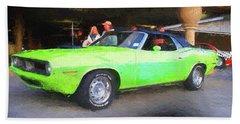 1970 Green Cuda Beach Towel