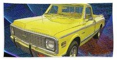1972 Chevy Pickup Truck Beach Towel