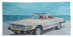1979 Mercedes 450 Sl Beach Towel