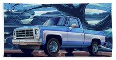 1980 Chevy Custom C10 Short Bed Poster Art Beach Towel