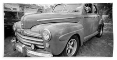 1947 Ford Super Deluxe Coupe 007 Beach Towel
