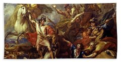 Alexander IIi Of Scotland Rescued From The Fury Of A Stag By The Intrepidity Of Colin Fitzgerald Beach Towel