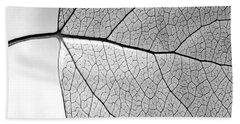 Aspen Leaf Veins Beach Towel